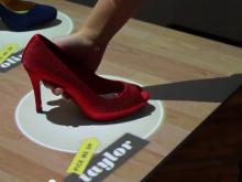 Schoenen kopen met behulp van Digital Signage