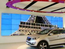 Eerste en grootste LED videowall in Europa bij KIA Nederland