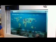 Werelds eerste transparante lcd panel